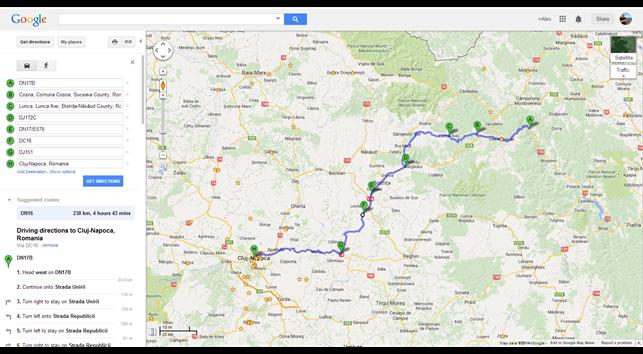 DN17B to Cluj-Napoca, Romania - Google Maps