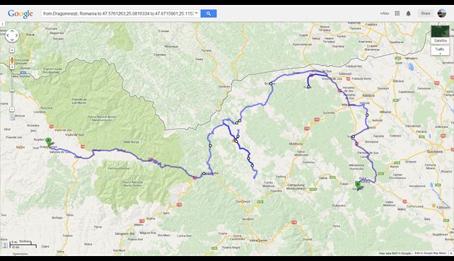 Dragomirești, Romania to Voronet Monastery - Google Maps