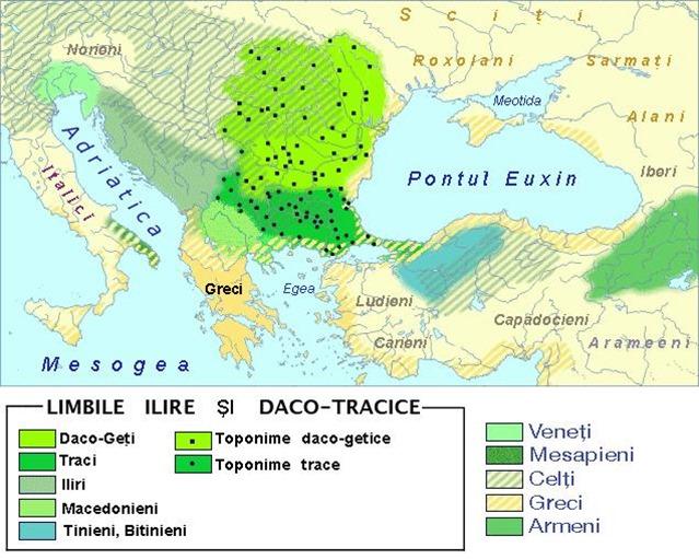 limbi Daco-Traco-Ilire