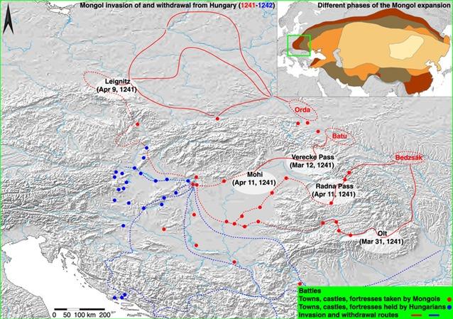 mongol invasionț
