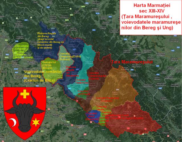 Harta Voievodatelor Maramuresului